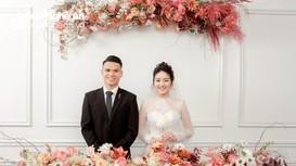 Phạm Xuân Mạnh lịch lãm trong lễ cưới tại quê vợ Diễn Châu