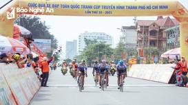 Hoàn thành chặng đua xe đạp toàn quốc Cúp Truyền hình TP Hồ Chí Minh 2021 tại Nghệ An