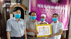 Truy tặng Bằng khen của Chủ tịch UBND tỉnh Nghệ An và Thừa Thiên Huế cho em Nguyễn Văn Nhã