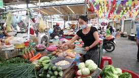 Nguồn cung giảm, giá rau xanh Nghệ An tăng nhẹ