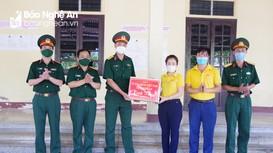 Chủ tịch Ủy ban MTTQ tỉnh thăm, động viên đội quy tập Bộ CHQS Nghệ An