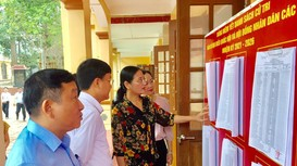 Kiểm tra, rà soát công tác chuẩn bị bầu cử tại thị xã Thái Hòa