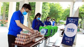'Triệu bữa cơm' hỗ trợ sinh viên, người dân gặp khó khăn do đại dịch Covid-19