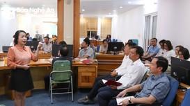 Báo Nghệ An trao đổi nghiệp vụ về thực hiện các tuyến bài phản biện