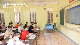 Cận cảnh học sinh nội trú ở Nghệ An ôn thi giữa mùa dịch