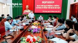 Đồng ý cách ly khu vực Công an huyện Đô Lương sau khi xuất hiện ca bệnh Covid -19