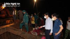 Khắc phục kịp thời sự cố vỡ đập Bàn Vàng ở huyện Yên Thành