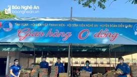 'Gian hàng 0 đồng' chia sẻ khó khăn trong vùng dịch ở Diễn Châu