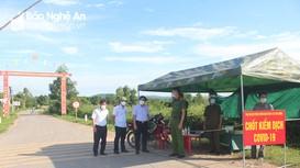 Quỳnh Lưu lập 269 chốt để kiểm soát dịch Covid-19