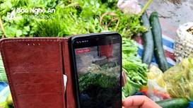 Tiểu thương chợ truyền thống Nghệ An 'dọn hàng' lên Facebook