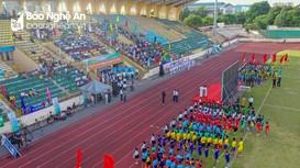 Ấn tượng lễ khai mạc Giải bóng đá Thiếu niên - Nhi đồng Cúp Báo Nghệ An lần thứ 23