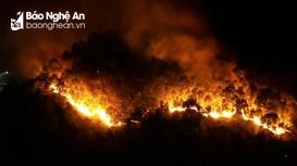 Video clip cháy rừng thông dữ dội trên núi Hồng Lĩnh