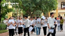 Các thí sinh ở Nghệ An nhận định về đề thi văn