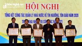 Nghệ An triển khai nhiệm vụ công tác quản lý nhà nước về tín ngưỡng, tôn giáo năm 2021