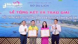 18 thí sinh đạt giải tại Hội thi Nghiệp vụ hướng dẫn viên du lịch tỉnh Nghệ An