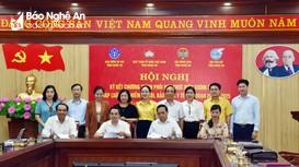 Nghệ An: Ký kết Chương trình phối hợp thực hiện chính sách, pháp luật bảo hiểm xã hội, bảo hiểm y tế