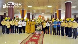 Chủ tịch Ủy ban MTTQ tỉnh Nghệ An chúc mừng Giáo hội Phật giáo tỉnh nhân Đại lễ Phật đản