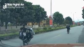 Nghệ An: Triệu tập thanh niên bốc đầu xe trên Quốc lộ 7