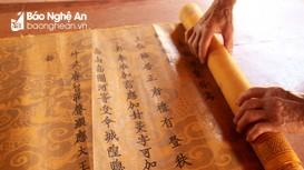 Nhà thờ họ ở Nghệ An lưu giữ 11 bản sắc phong cổ quý hiếm
