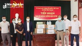 Công ty TMD tặng nước khử khuẩn, thực phẩm chức năng phòng dịch cho huyện Diễn Châu, Yên Thành