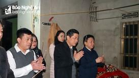 Sở Giáo dục và Đào tạo thăm hỏi học sinh bị tử vong tại Quỳ Hợp