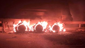 Xe đầu kéo bốc cháy dữ dội trên đường N5 ở Nghệ An
