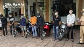 Nhóm 'quái xế' tụ tập gây náo loạn giữa mùa dịch ở Nghệ An