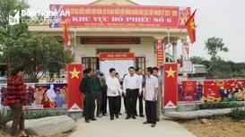 Chủ tịch HĐND tỉnh kiểm tra công tác chuẩn bị bầu cử tại Đô Lương