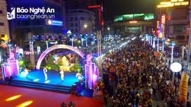 Lung linh phố đêm Cao Thắng trong ngày khai trương nhìn từ flycam