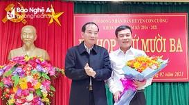 Bầu chức danh Chủ tịch UBND huyện Con Cuông