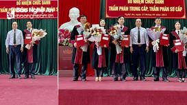 Trao Quyết định bổ nhiệm Thẩm phán trung cấp, Thẩm phán sơ cấp ở tỉnh Nghệ An