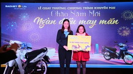 """Bảo Việt Nhân thọ Bắc Nghệ An quay thưởng Chương trình """"Chào năm mới - Ngàn điều may mắn"""""""
