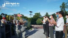Ban Tuyên giáo Tỉnh ủy tri ân các anh hùng, liệt sỹ