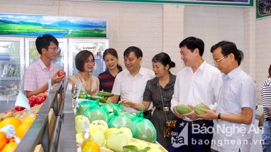 Hội Nông dân tỉnh Nghệ An khai trương cửa hàng nông sản an toàn