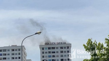 Cháy chung cư Golden City 6A ở TP Vinh