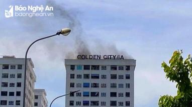 Cháy ở chung cư Golden City 6A (TP Vinh)