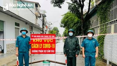 Phong tỏa 32 hộ dân phường Hà Huy Tập, xã Hưng Lộc của TP Vinh do liên quan ca nhiễm Covid-19 mới