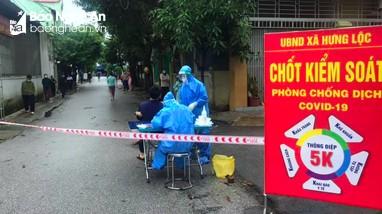 Phong tỏa thêm 30 hộ dân ở Hưng Lộc, thành phố Vinh khi xuất hiện thêm 3 ca cộng đồng