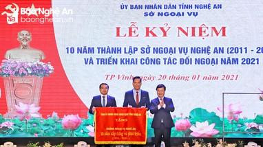Chủ tịch UBND tỉnh: Nâng cao hiệu quả công tác đối ngoại, thu hút nhiều nhà đầu tư vào Nghệ An