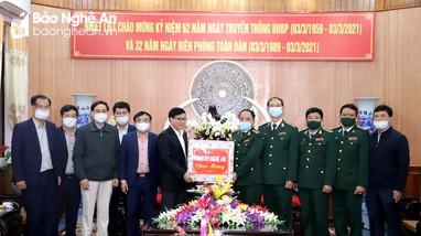 Lãnh đạo tỉnh chúc mừng Bộ đội Biên phòng nhân ngày truyền thống