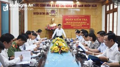 Phó Bí thư Thường trực Tỉnh ủy kiểm tra công tác chuẩn bị bầu cử tại Quỳnh Lưu