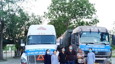 Giáo phận Vinh ủng hộ thành phố Hồ Chí Minh 60 tấn hàng và 2 tỷ đồng