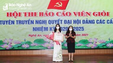 Bế mạc trao giải Hội thi Báo cáo viên giỏi Đảng ủy Khối Các cơ quan tỉnh Nghệ An