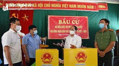 Chủ nhiệm Ủy ban Kiểm tra Tỉnh ủy rà soát công tác chuẩn bị bầu cử tại Yên Thành