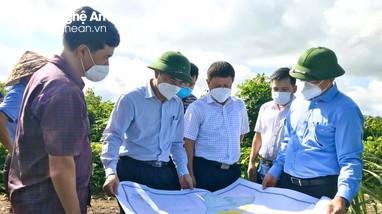 Phó Chủ tịch UBND tỉnh Lê Ngọc Hoa khảo sát tiềm năng thu hút đầu tư ở Tân Kỳ