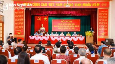Nghệ An sẽ điều chỉnh số lượng, cách thức tổ chức hội nghị tiếp xúc cử tri vận động bầu cử
