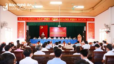 Ứng cử viên đại biểu Quốc hội, HĐND tỉnh tiếp xúc cử tri 12 xã thuộc huyện Thanh Chương