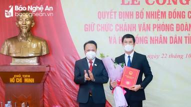 Công bố Quyết định bổ nhiệm Chánh Văn phòng Đoàn ĐBQH, HĐND Nghệ An