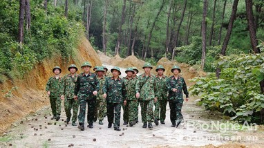 Kiểm tra công tác xây dựng Sở Chỉ huy diễn tập khu vực phòng thủ tỉnh
