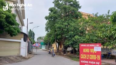TP. Vinh điều chỉnh cấp độ dịch, xã Hưng Lộc thành vùng đỏ